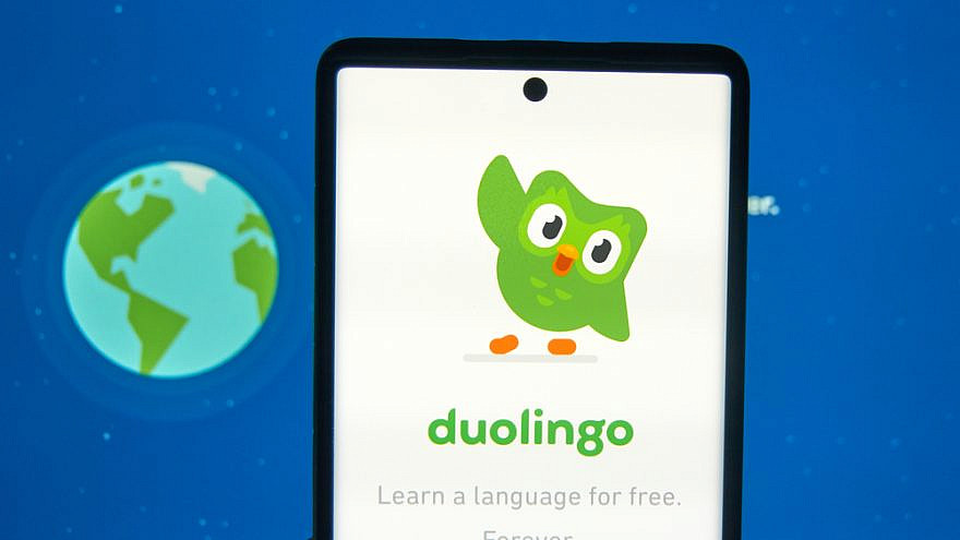 Duolingo is a platform that includes a language-learning website and mobile application. Credit: dennizn/Shutterstock.